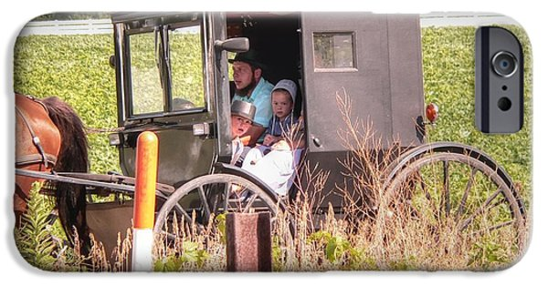 Amish Family iPhone Cases - My Favorite iPhone Case by David Bearden