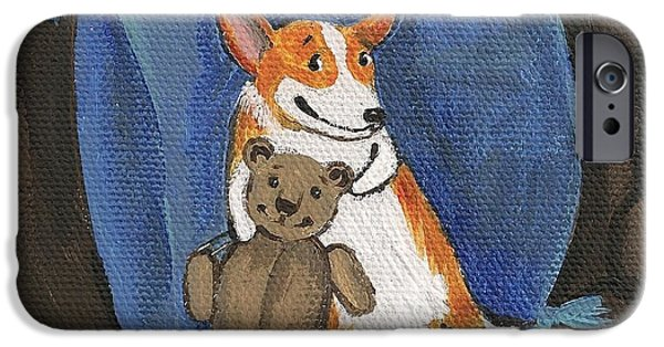 Toy Store iPhone Cases - My Friend Teddy iPhone Case by Margaryta Yermolayeva
