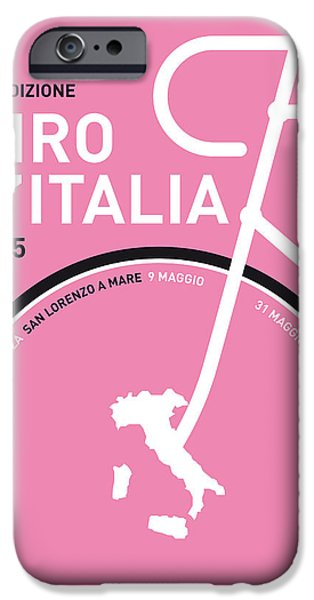 Cycle iPhone Cases - My Giro Ditalia Minimal Poster 2015 iPhone Case by Chungkong Art