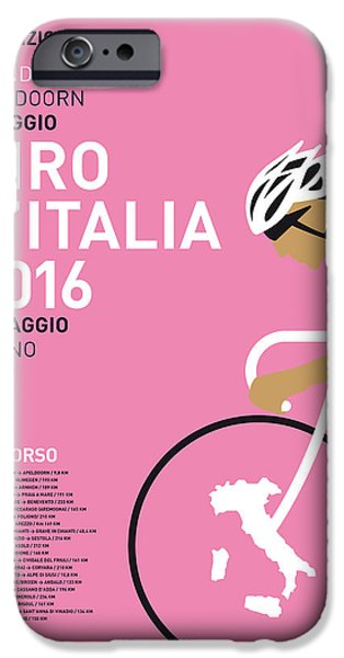 Graphic Design iPhone Cases - My Giro Ditalia Minimal Poster 2016 iPhone Case by Chungkong Art