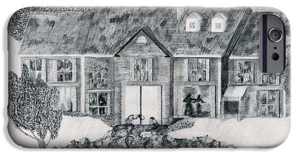 Haunted House iPhone Cases - My House Is Haunted iPhone Case by Leonette Leonette