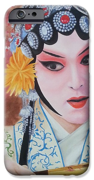 Concubines Paintings iPhone Cases - My Idol iPhone Case by Kathleen Wong