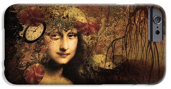 Little Girl iPhone Cases - My Little Secret - Mona Lisa iPhone Case by Georgiana Romanovna
