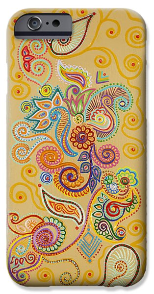 Colorful Abstract iPhone Cases - My Monsoon Dance iPhone Case by Anannya Chowdhury