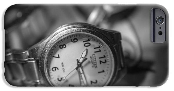 Business Photographs iPhone Cases - My Old Watch iPhone Case by David Vale