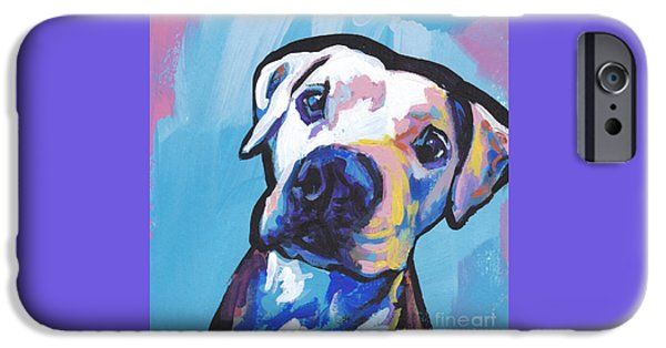 Pit Bull iPhone Cases - My Peach Pit iPhone Case by Lea