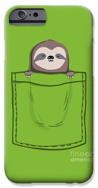 Adorable Digital Art iPhone Cases - My Sleepy Pet iPhone Case by Budi Kwan