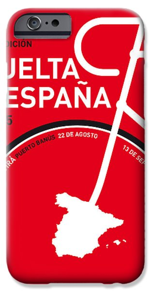 Cycle iPhone Cases - My Vuelta A Espana Minimal Poster 2015 iPhone Case by Chungkong Art