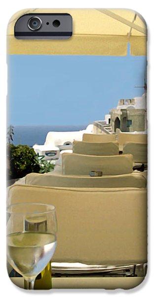 Mykonos Restaurant iPhone Case by Madeline Ellis