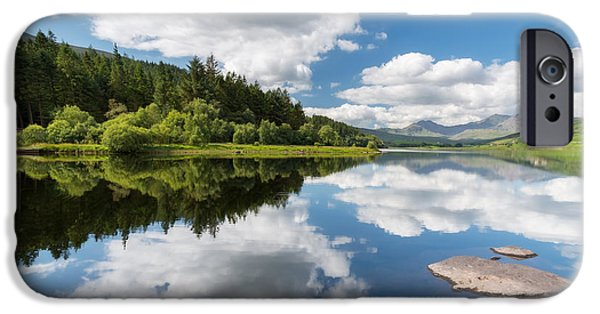 Canoe Digital iPhone Cases - Mymbyr Lake iPhone Case by Adrian Evans