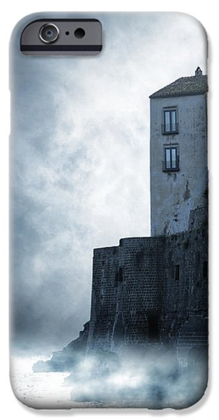 Old Houses iPhone Cases - Mysterious House iPhone Case by Joana Kruse