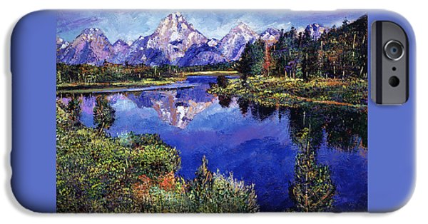 Blue Sky Reflection iPhone Cases - Mystery Lake iPhone Case by David Lloyd Glover