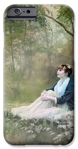 Mist iPhone Cases - Mystic Contemplation iPhone Case by Karen K