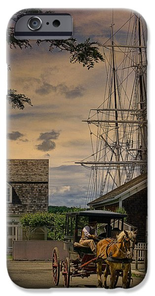Tall Ship iPhone Cases - Mystic Evening iPhone Case by Chris Lord