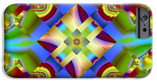 Abstract Digital Art iPhone Cases - Mystic Geometry iPhone Case by Mario Carini