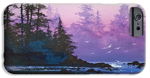 Landscape Framed Prints iPhone Cases - Mystic Shore iPhone Case by James Williamson