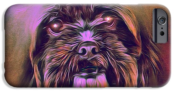 Puppies iPhone Cases - Mystic Terrier Portrait iPhone Case by Scott Wallace
