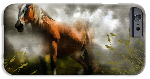 Airbrush Mixed Media iPhone Cases - Mystic Visitor iPhone Case by Georgiana Romanovna