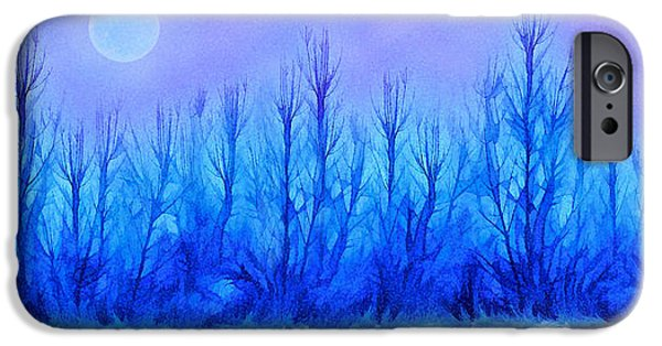 Mystical Landscape Mixed Media iPhone Cases - Mystical Forest Reveries iPhone Case by Joel Bruce Wallach