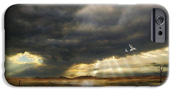 Evening Mixed Media iPhone Cases - Mystical Light iPhone Case by Franziskus Pfleghart