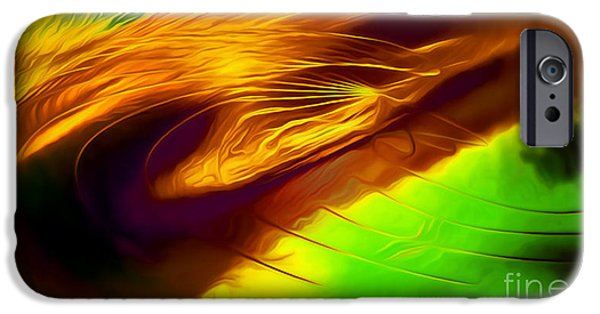 Abstract Digital Paintings iPhone Cases - Mystify iPhone Case by Mark Birkland