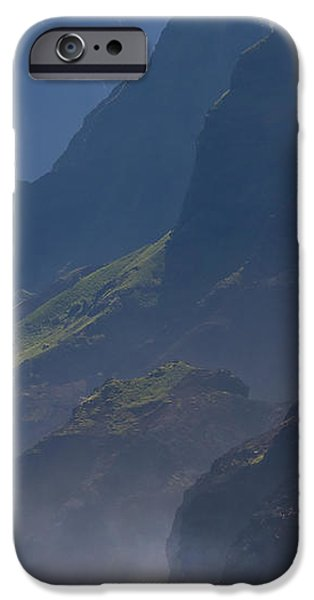Na Pali Morning Mist iPhone Case by Mike  Dawson