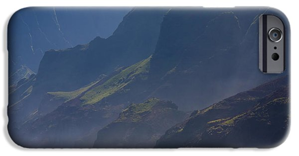 Mist iPhone Cases - Na Pali Morning Mist iPhone Case by Mike  Dawson