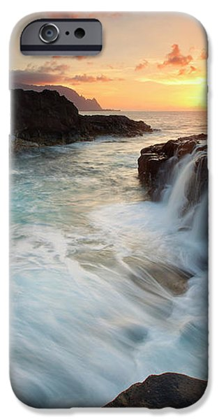 Na Pali Sunset iPhone Case by Mike  Dawson