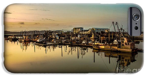 Beach iPhone Cases - Nahcotta Boat Basin iPhone Case by Robert Bales