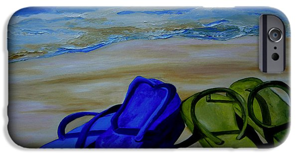 House iPhone Cases - Naked Feet on the Beach iPhone Case by Patti Schermerhorn