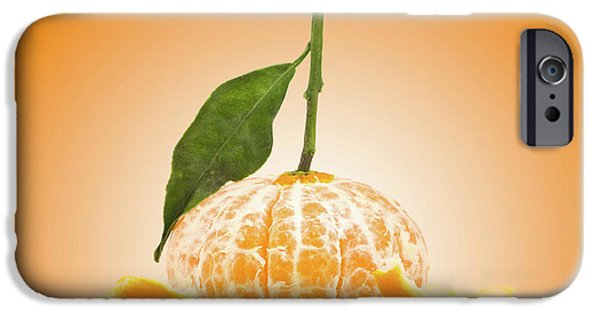 Tangerine iPhone Cases - Naked Orange iPhone Case by Wim Lanclus