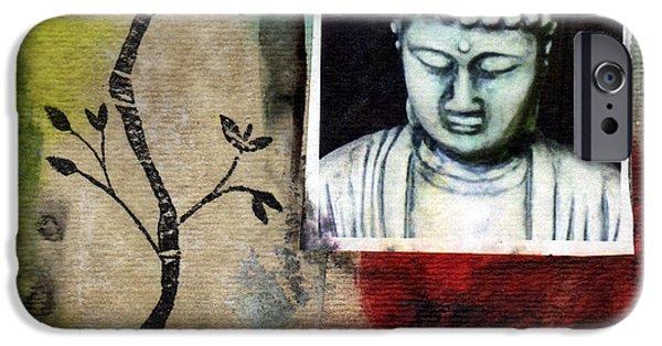Buddha iPhone Cases - Namaste Buddha iPhone Case by Linda Woods