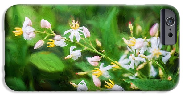 Bamboo Leaves iPhone Cases - Nandina Heavenly Bamboo Painted iPhone Case by Rich Franco