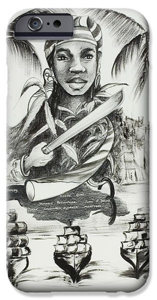 Afro iPhone Cases - Nanny of the Maroons iPhone Case by Ikahl Beckford