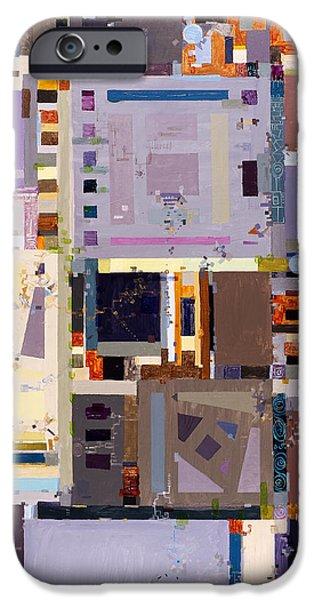 Diagram Paintings iPhone Cases - Nano Night Music iPhone Case by Regina Valluzzi
