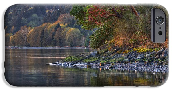 Bc Coast iPhone Cases - Nanoose Morning iPhone Case by Randy Hall
