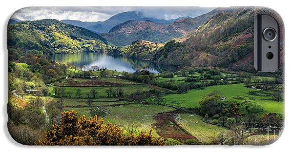 Park Scene iPhone Cases - Nant Gwynant Valley iPhone Case by Adrian Evans