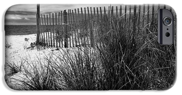 Nantucket iPhone Cases - Nantucket Harbor Beach Dunes  iPhone Case by Thomas Schoeller