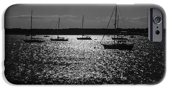 Nantucket iPhone Cases - Nantucket Sailboats iPhone Case by Michelle Wiarda