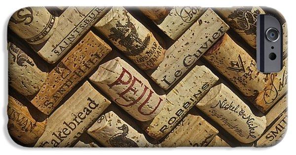 Vintage Wine Lovers Photographs iPhone Cases - Napa Wine Coks iPhone Case by Anthony Jones