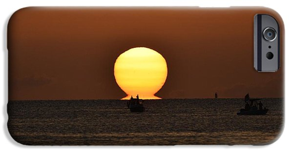 Fourth Of July iPhone Cases - Naples Sunset 4 iPhone Case by Don Columbus