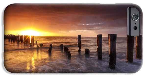 Florida Pyrography iPhone Cases - Naples Sunset iPhone Case by David Nguyen