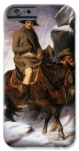 1856 iPhone Cases - Napoleon Crossing the Alps iPhone Case by Hippolyte Delaroche