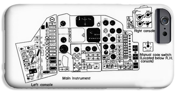 4th July Mixed Media iPhone Cases - NASA Main instrument panel for the Mercury spacecraft iPhone Case by R Muirhead Art