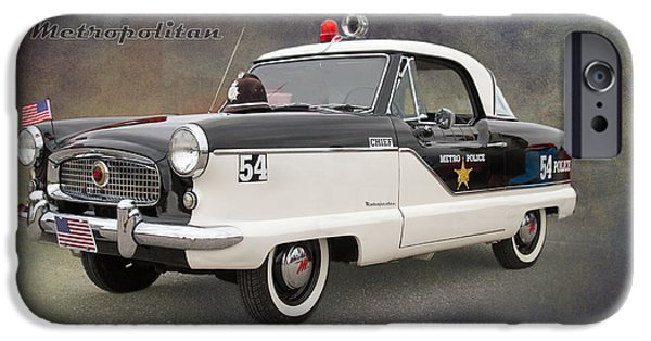 Police Cruiser iPhone Cases - Nash Metropolitan by Darrell Hutto iPhone Case by Darrell Hutto
