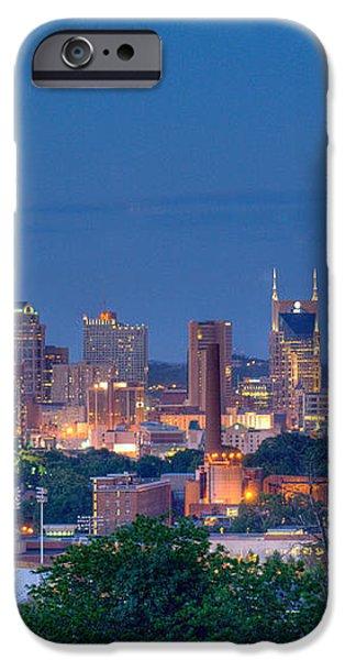 Nashville by Night 1 iPhone Case by Douglas Barnett