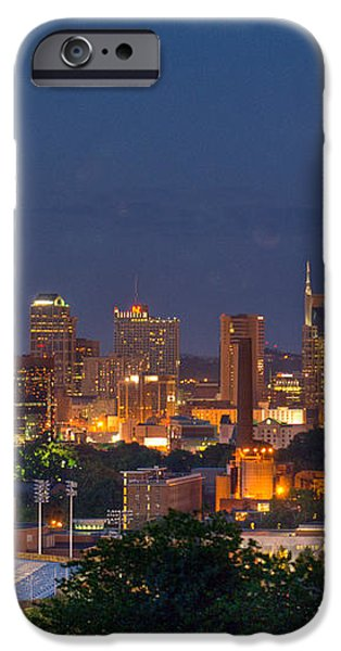 Nashville by Night 2 iPhone Case by Douglas Barnett