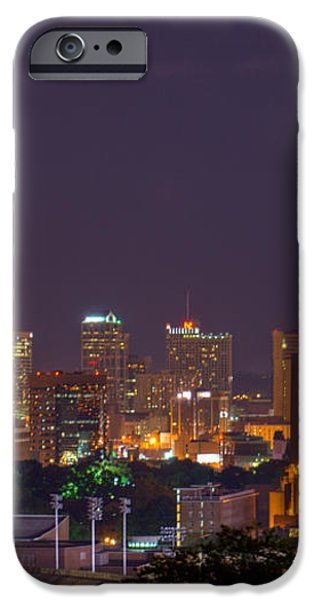 Nashville by Night 3 iPhone Case by Douglas Barnett