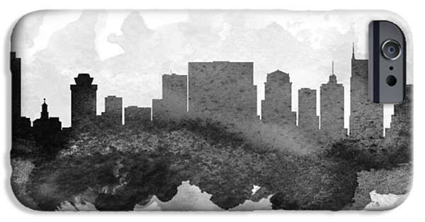 Nashville Tennessee iPhone Cases - Nashville Cityscape 11 iPhone Case by Aged Pixel
