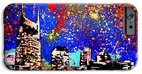 Nashville Paintings iPhone Cases - Nashville iPhone Case by Nick Mantlo-Coots